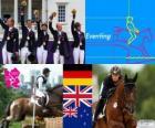 Podi equitazione concorso completo, Germania, Regno Unito e Nuova Zelanda - Londra 2012-