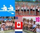 Podio Canottaggio otto femminile, Stati Uniti, Canada e Paesi Bassi - Londra 2012 -