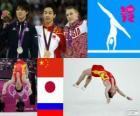 Podio ginnastica artistica corpo libero maschile, Zou Kai (Cina), Kōhei Uchimura (Giappone) e Denis Abliazin (Russia), Londra 2012