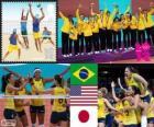 Podio pallavolo femminile, Brasile, Stati Uniti e Giappone, Londra 2012