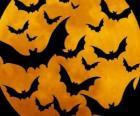 Pipistrelli per la celebrazione di Halloween