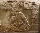 Disegni Maya scolpita su una pietra