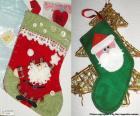 Calze di Natale decorato con Babbo Natale