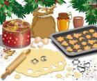 Preparazione biscotti di Natale