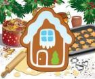 Biscotto di Natale a forma di casa