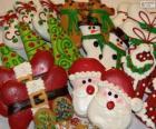 Belle biscotti di Natale di varie forme