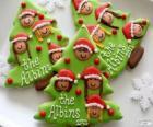 Natale biscotti a forma di albero di Natale