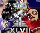 Super Bowl 2013. San Francisco 49ers vs Baltimore Ravens. Superdome, New Orleans