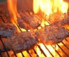 Barbecue hamburger preparati