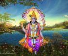 Vishnu, il dio conservatore dil Trimurti