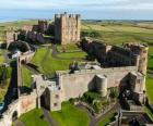 Il castello di Bamburgh, Inghilterra