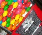 Distributore automatico o macchina vending de palla di gomma da masticare
