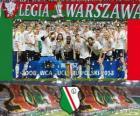 Legia Varsavia, campione Ekstraklasa 2012-2013, campionato di calcio de Polonia