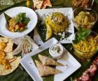 Diversi piatti della cucina internazionale