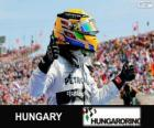 Lewis Hamilton festeggia la sua vittoria nel Gran Premio d'Ungheria 2013