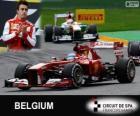 Fernando Alonso - Ferrari - Gran Premio Belgio 2013, 2º classificato
