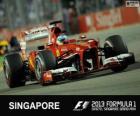 Fernando Alonso - Ferrari - Gran Premio di Singapore 2013, 2º classificato