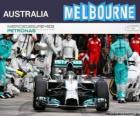Nico Rosberg celebra la sua vittoria nel Gran Premio di Australia 2014