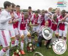 Ajax Amsterdam, campione del campionato di calcio olandese Eredivisie 2013-2014