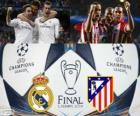 Real Madrid vs Atletico. Finale di UEFA Champions League 2013-2014. Estadio da Luz, Lisbona, Portogallo