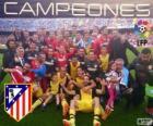 Atlético Madrid, campione della lega calcio spagnola 2013-2014