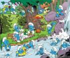 I Puffi nel fiume