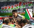 Legia Varsavia, campione del campionato di calcio polacco Ekstraklasa 2013-2014