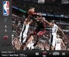 2014 NBA le finali, 2° partita, Miami Hea 98 - San Antonio Spurs 96