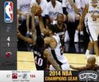 2014 NBA Finals, 5a partita, Miami Heat 87 - San Antonio Spurs 104