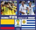 Colombia - Uruguay, ottavi di finale, Brasile 2014