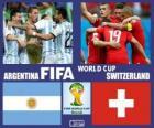 Argentina - Svizzera, ottavi di finale, Brasile 2014