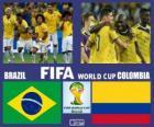 Brasile - Colombia, quarti di finale, Brasile 2014