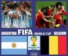 Argentina - Belgio, quarti di finale, Brasile 2014