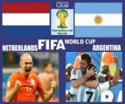 Olanda - Argentina, semifinali,, Brasile 2014