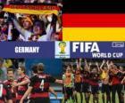 Germania celebra la sua classificazione, Brasile 2014