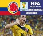Scarpa di James Rodriguez, Scarpa d'oro. Mondiali di calcio Brasile 2014