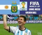 Lionel Messi, pallone d'oro. Mondiali di calcio Brasile 2014
