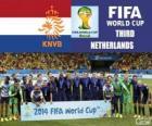 Olanda 3 ° classificato del Mondiali di calcio Brasile 2014