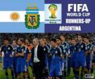 Argentina 2 ° classificato nel Mondiali di calcio Brasile 2014