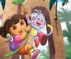 Dora e Boots in una delle sue avventure