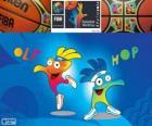 Ole e Hop, mascotte del Campionato mondiale di pallacanestro 2014