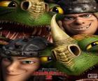 I fratelli gemelli, Testa di Tufo e Testa Bruta Thorston con loro draghi