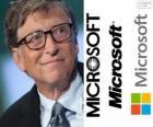 Bill Gates, imprenditore e informatico statunitense, co-fondatore della società di software Microsoft