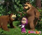 Masha con i due orsi