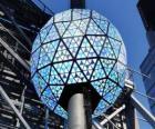 La palla del nuovo anno, Times Square, Manhattan, New York