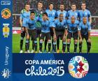 Selezione dell'Uruguay, campione 2011, gruppo B, la Copa America Cile 2015