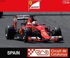 Sebastian Vettel, Ferrari, Gran Premio di Spagna 2015, il terzo posto