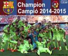 Barça, FC Barcelona, campione del campionato di calcio spagnolo 2014-2015