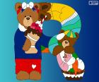 Lettera R di orsi
