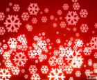 Fiocchi di neve sfondo rosso